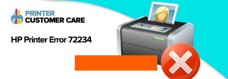 HP Printer Error 72234
