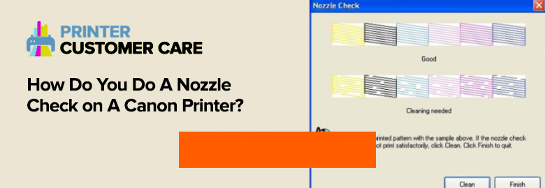 Nozzle Check on Canon Printer